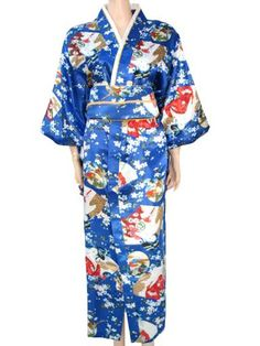 Hot Sale Japanese Female Silk Kimono With Obi Traditional Woman Yukata Evening Party Dress Cosplay Costume Floral One Size B-062