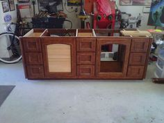 Before: Old Media Cabinet