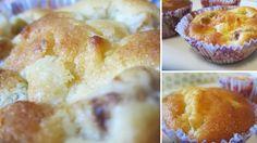 recipe: apple rhubarb muffins with lemon