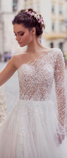 Bridal Gown Inspiration – Wedding and Bride – Wedding Gown Perfect Wedding Dress, White Wedding Dresses, Princess Wedding Dresses, Bridal Dresses, One Shoulder Wedding Dress, Wedding Gowns, Bridesmaid Dresses, Wedding Ceremony, Wedding White