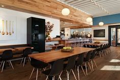 Piccino San Francisco. Great light, color, art, and wood (oh, and the food)