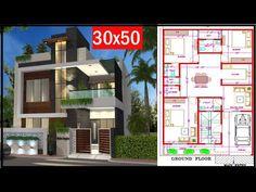 1200sq Ft House Plans, 30x50 House Plans, Model House Plan, Duplex House Plans, House Layout Plans, Family House Plans, House Layouts, Floor Plans, Duplex House Design