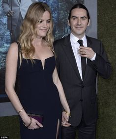 Proud husband: Dhani Harrison is the image of his late father, George, and it was hard not to do a double take as he made a rare appearance at the Beautiful Creatures premiere in L.A. on Wednesday