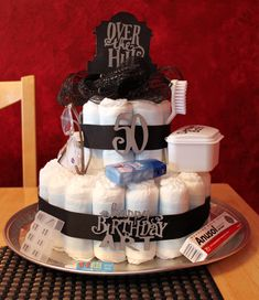Croatian Crafter: Over the Hill Diaper Cake