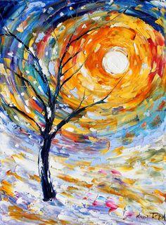 Winter Sunset tree Karen Tarlton