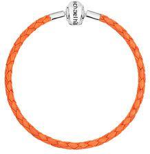 "Orange Leather 19cm (7.5"") Charm Bracelet"