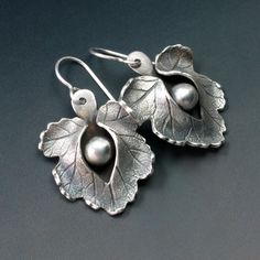 Split Leaf Earrings by Donna Penoyer, via Flickr