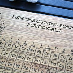 Mendeleevs 1869 periodic table note that his arrangement presents custom science gift geekery periodic table engraved wood cutting board 12x16 name urtaz Image collections