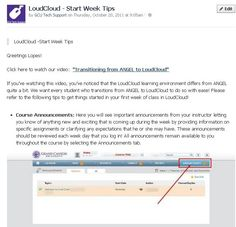 Start tips for your first week in LoudCloud