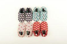 poco nido canvas printed japanese inspired printed baby shoes.