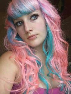 I want something like this, but with a pinker pastel pink and a more royal blue.