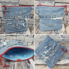 Jeans Recycling Denim Shorts, Jeans, Recycling, Women, Fashion, Moda, Fashion Styles, Upcycle, Fashion Illustrations