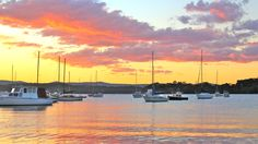 Sunset over Valentine, Lake Macquarie, NSW