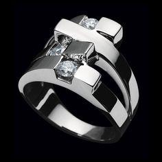 Originate Diamond Ring by John Atencio - 14K white gold & diamonds - modern, sculptural - just my style! jewelry gems facets