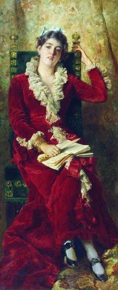 Portrait of Y.Makovskaya, 1881, Konstantin Makovsky