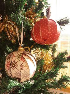 Bolas de natal/Decorações árvore de natal/Handmade christmas balls
