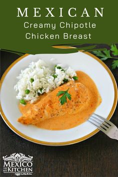Say hello to one of your next favorite recipes, Creamy Chipotle Chicken Breast! I am always trying to make new recipes that take less time to make but can still satisfy my Mexican taste buds, and I'm also always wanting to try new things and maybe get out of my comfort zone a little. #mexicanfood #mexicanchicken #chickenchipotle #easydinner