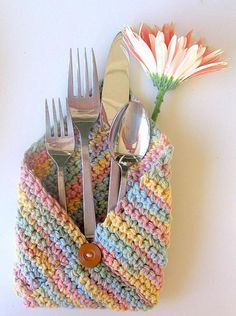 Cutlery  Envelopes in Soft Desert Tones by AllAboutTheButtons, $14.00 USD