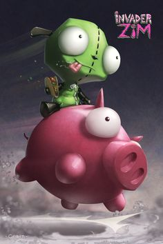 Invader Zim - Taco Recovery by Clayton Crain *