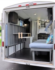 This is the story of one couple's utility trailer to camper conversion. They took a used 6 x 10 cargo trailer and turned it into a mini-camper with lots