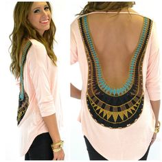 Sun Flare Peach Open Crochet Back Top | Amazing Lace