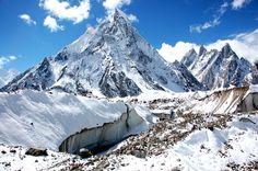 Baltoro glacier and Mitre Peak (6025m) in the Karakoram range of northern Pakistan.