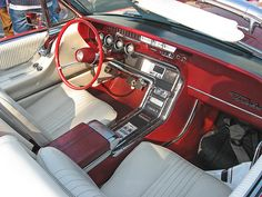 1965 Ford Thunderbird convertible cockpit