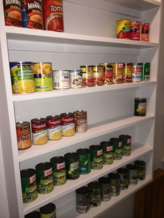 Love my new pantry--especially this shelf for canned goods