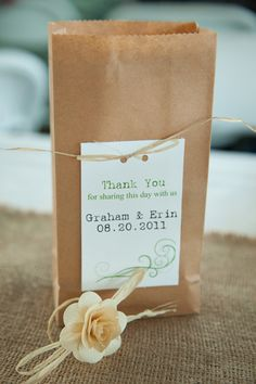 Paper bag your wedding favours. This will help in letting the bride and groom give their gifts more than one cute item.