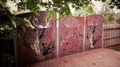 This custom set revisted today three years on from install in Glen Waverley. #poboxdesigns #custom #screens #landscape #lasercut #rust by poboxdesigns