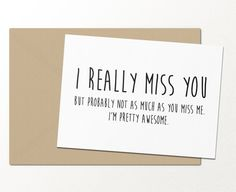 I Miss You Like An Idiot Misses The Point  Funny Greeting Card