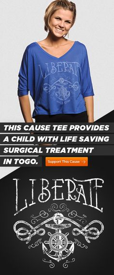 LADIES! We released a new shirt cut! This cute shirt provides a life-saving surgery to a child in Togo, Africa! Buy tee here --> svnly.org/PinLink