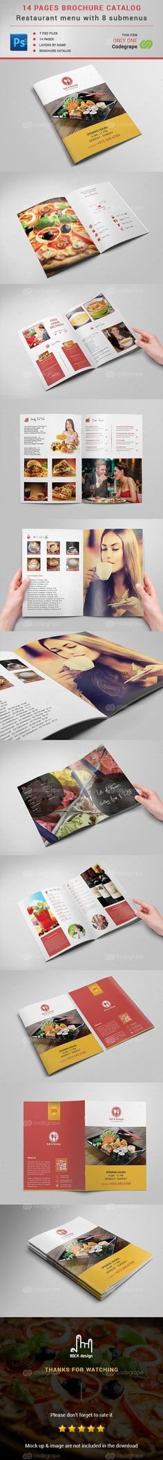 14 Pages Brochure Catalog on @codegrape. More Info…