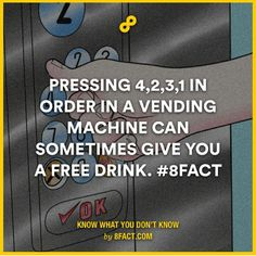 """When people say, """"hacker"""" they usually don't mean vending machine hacker but whatever FREE POP HAHA"""