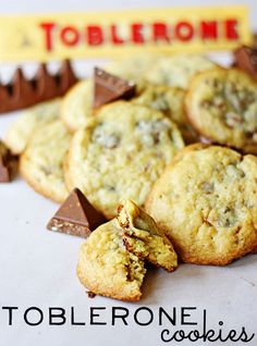Toblerone Cookies - some of the best cookies you'll ever put in your mouth! | The Shabby Creek Cottage