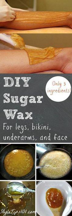 to Make Sugar Wax at Home: DIY Sugar Wax Recipe Sugar + water + lemon juice = the BEST waxing method you'll ever try!Sugar + water + lemon juice = the BEST waxing method you'll ever try! Sugar Wax Recipe, Homemade Sugar Wax, Recipe Recipe, Homemade Recipe, Homemade Waxing, Diy Beauté, Diy Wax, Diy Crafts, Diy Beauty Crafts