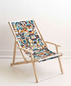 Mingo Lamberti - Holiday Collection designed by MUTI. Connect with them on Dribbble; Deck Chairs, Outdoor Chairs, Outdoor Furniture, Outdoor Decor, Rotary Screen Printing, Textile Patterns, Textiles, Sun Lounger, Traveling By Yourself