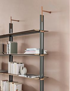 Wall Mounted Bookshelves, Wooden Bookcase, Bookcase Shelves, Storage Shelves, Bookcases, Shelving Design, Shelf Design, Unique Furniture, Furniture Design