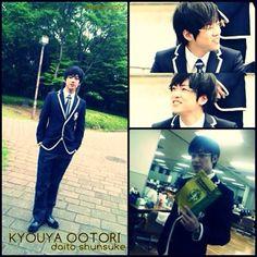 Kyoya ootori. Ouran high school host club live action drama. Daito shunsuke