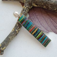 Regenbogen-Calsilica-bunt-Anhaenger-925-Sterling-Silber