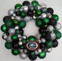 Happier Than A Pig In Mud: Philadelphia Eagles Ornament Wreath