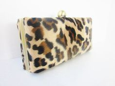 leopard clutch purse/faux by VincentVdesigns on Etsy, $50.00