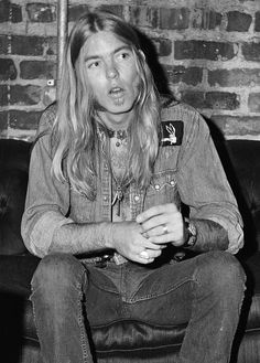 1971: Classic Rock's Classic Year Gregg Allman (age 23) backstage at The Warehouse, New Orleans, September 16, 1971, by Sidney Smith. #allmanbrothers