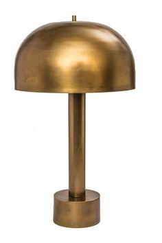 1970s Brass Mushroom Lamp   Chairish