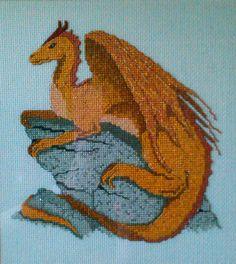 Cross stitched Dragon