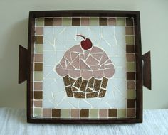Tile Crafts, Mosaic Crafts, Mosaic Projects, Projects To Try, Mosaic Tray, Mirror Mosaic, Mosaic Tiles, Mosaic Designs, Mosaic Patterns