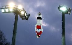 Canada's Mikael Kingsbury goes head over heels in men's moguls qualification en route to claiming the silver.