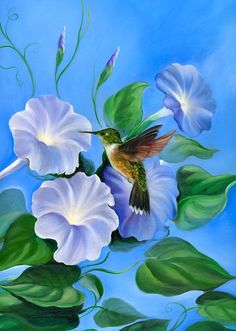 As the flower loves the kiss of the bird, my soul loves the kiss of your lips...  (☆ Morning Glory :¦: Artist David Joaquin ☆)