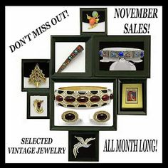 15% off any single purchase from my Ruby Lane Shop!  Entire Month of November.  Just place an order and I will discount the price or email me for info. http://www.rubylane.com/shop/atouchofrosevintagejewels FREE Domestic Shipping A Touch of Rose Vintage Jewels on Ruby Lane