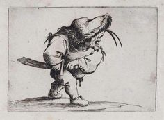 Via http://50watts.com/Scarbo-Suite Jacques Callot, Man preparing to draw his sword, from the series Gobbi, about 1621